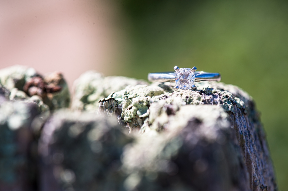 engagement ring close up photo