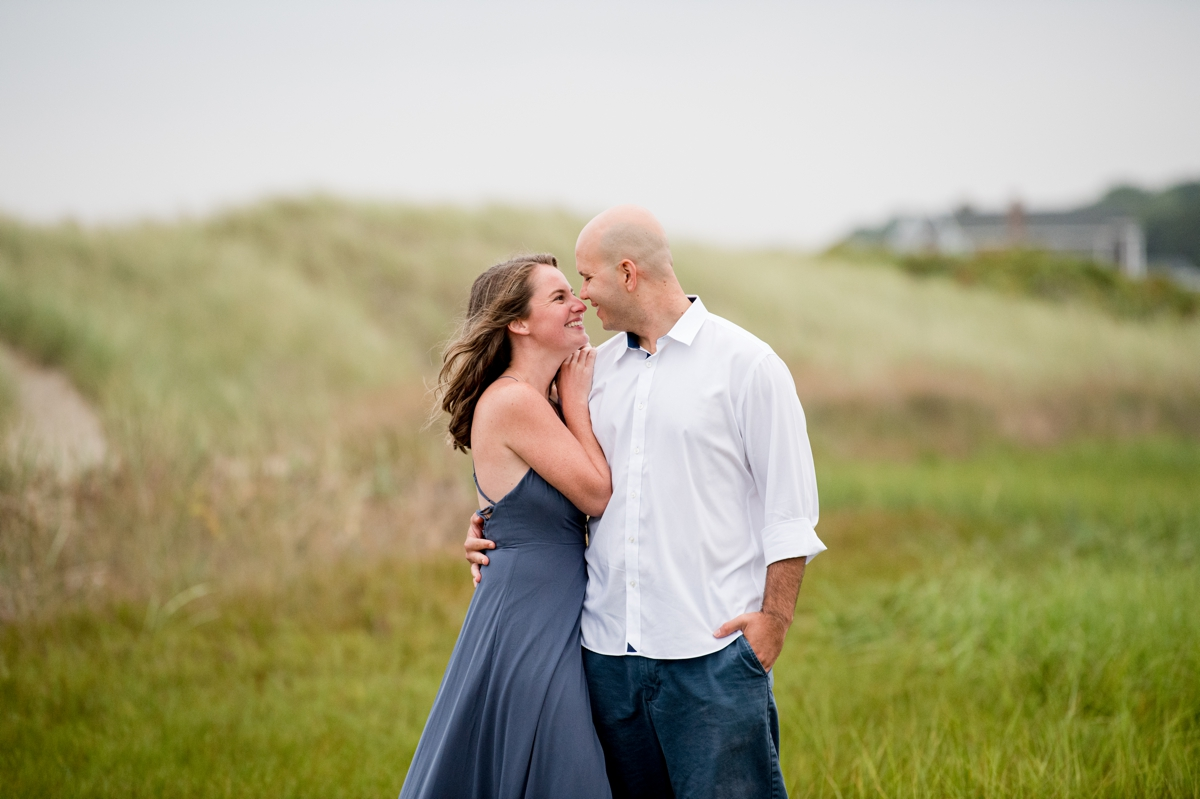 Sweet moment with newlyweds to be on beach