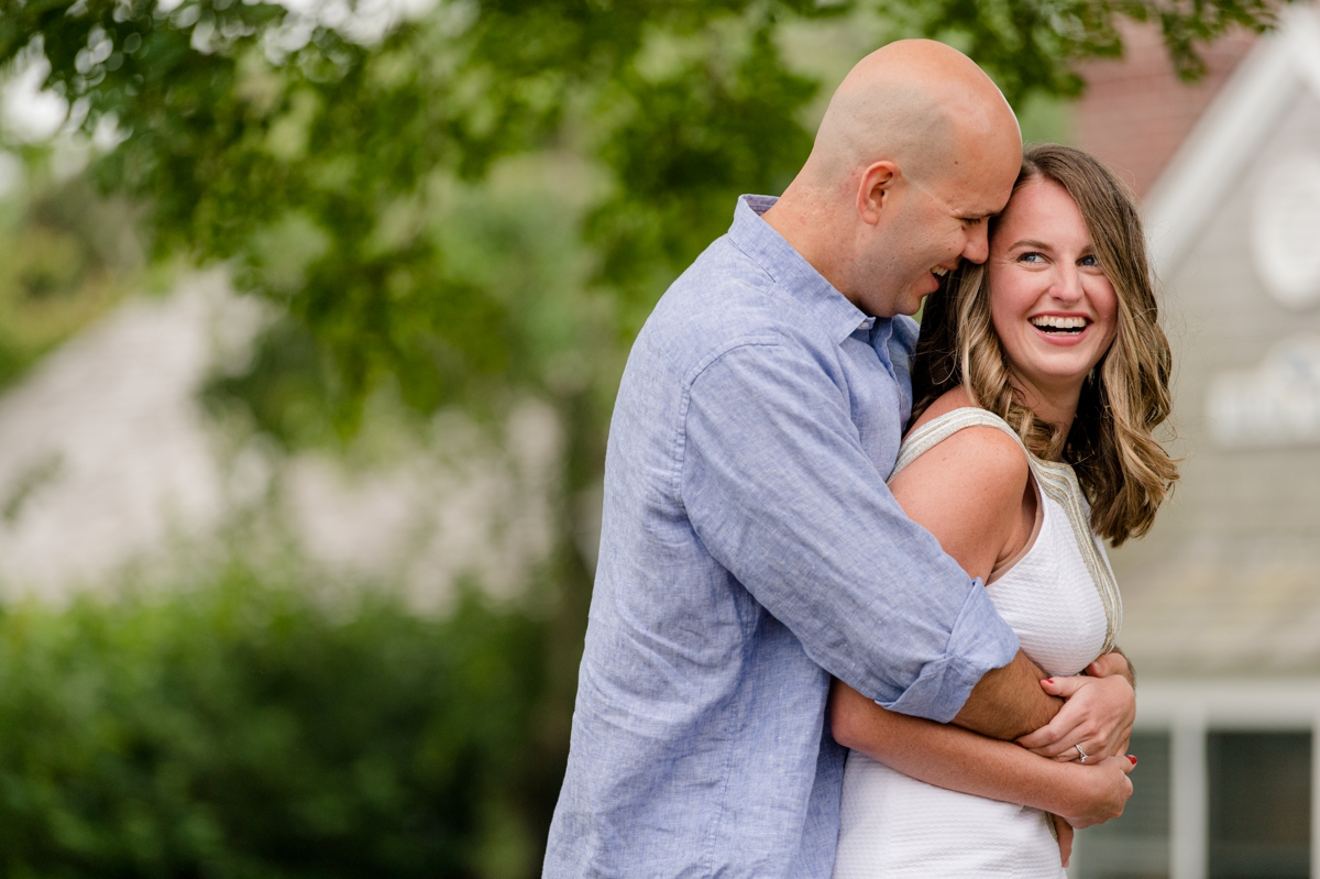 groom to be hugging bride to be