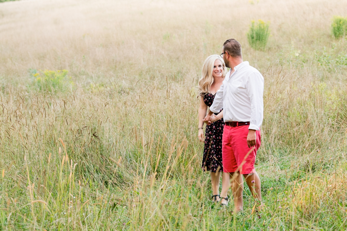 Couple in field at moore State Park